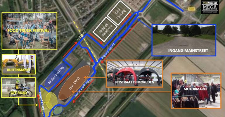 Mega MotorTreffen: Plattegrond 2018