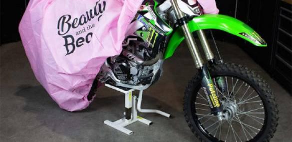 Het toppunt van vrouwelijkheid: een roze motorhoes