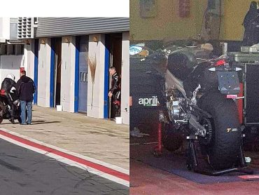 Aprilia RS 660 betrapt tijdens testsessies