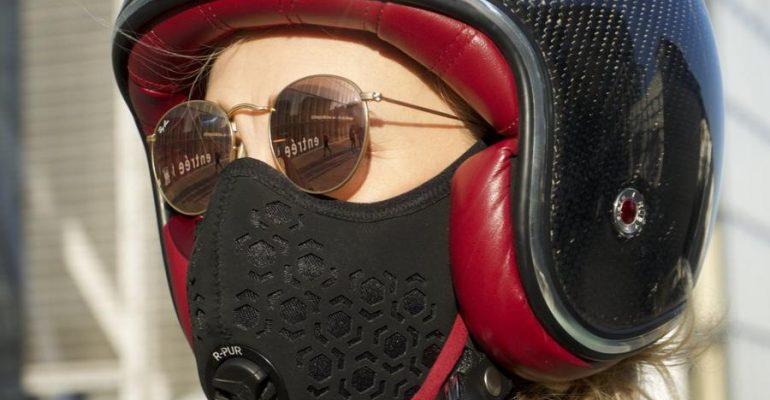 R-Pur Nano masker voorkomt fijnstof in je longen