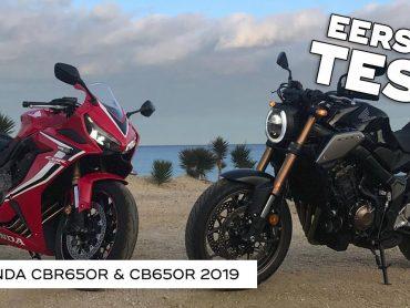 Honda CB650R & CBR650R 2019 – Eerste Test #Vlog