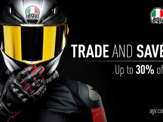 AGV inruilactie: lever je oude helm in voor 25 – 30% korting