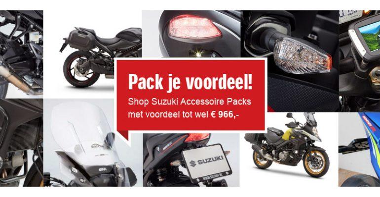 Aantrekkelijke Suzuki Accessoire Packs voor heel veel Suzuki-motoren