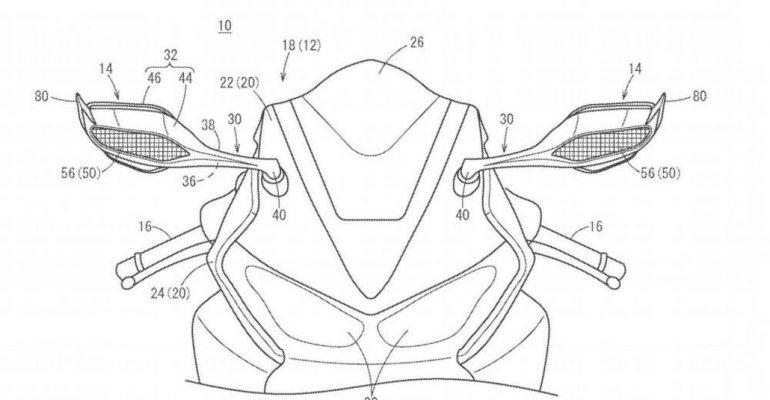 Honda: aërodynamische spiegels op nieuwe supersport?