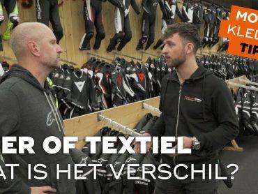 Motorkledingtips: motorpak van leer of textiel?
