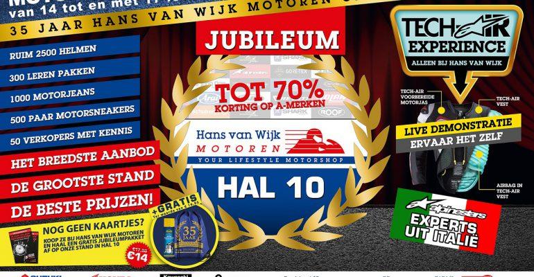 Jubileumpakket Hans van Wijk op Motorbeurs
