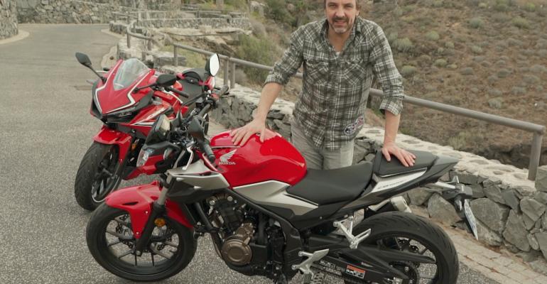 Video: Honda CBR500R & CB500F eerste test