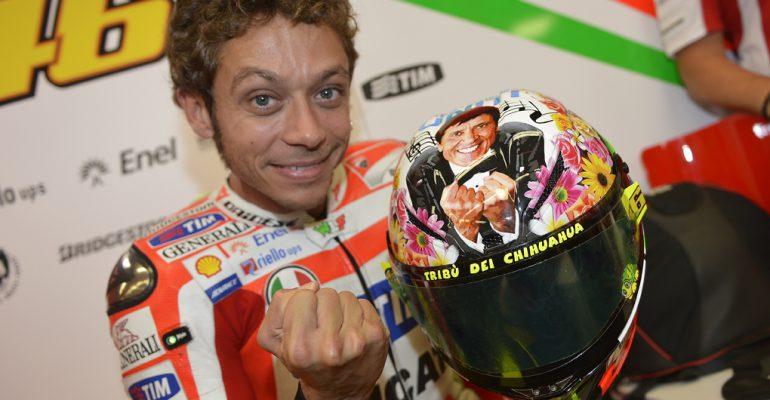 Rossi's helm voor Mugello