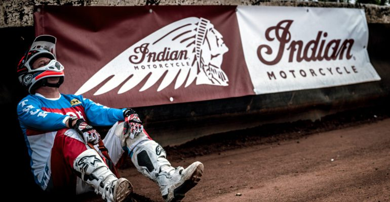 Indian sponsort Dirt Track Lelystad
