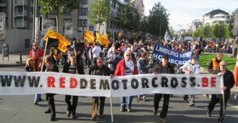 Motorcrossers betogen in Brussel