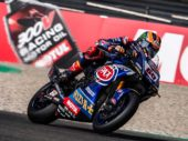 Michael van der Mark commentator MotoGP Le Mans tijdens Mega MotorTreffen 2019