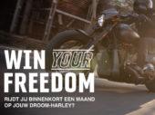 Maak een proefrit op een Harley-Davidson en maak kans om die motor een hele maand te rijden