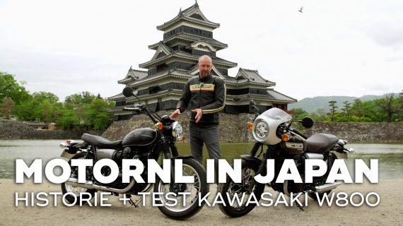 Kawasaki W800 modellen getest in Japan