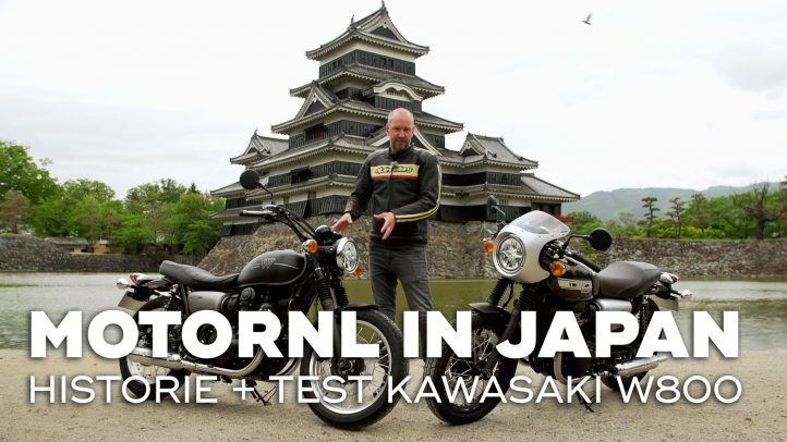 Kawasaki W800 modellen getest in Japan