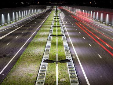 Verlichting langs de snelwegen weer aan