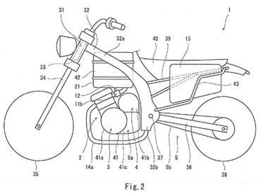 Kawasaki patenteert hybride motor