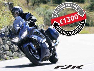 Voordeel op de Yamaha FJR1300: extra € 1.300,- inruilvoordeel