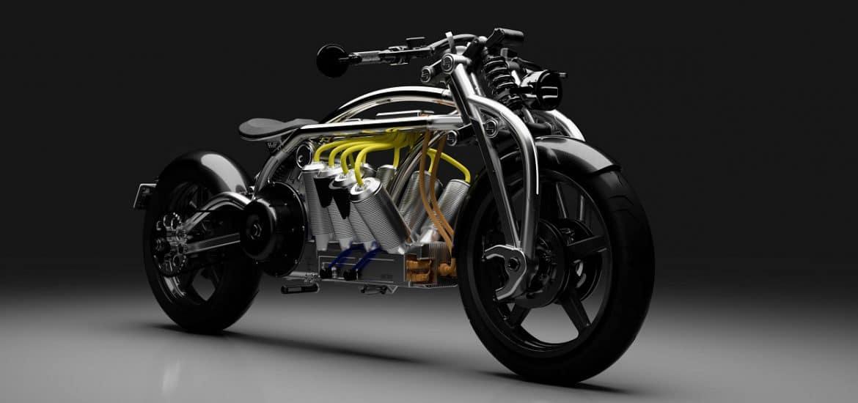 Elektrische V8 Curtiss Motorcycles Zeus