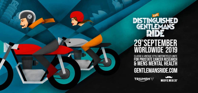 Het affiche van de Distinguished Gentlemans Ride 2019