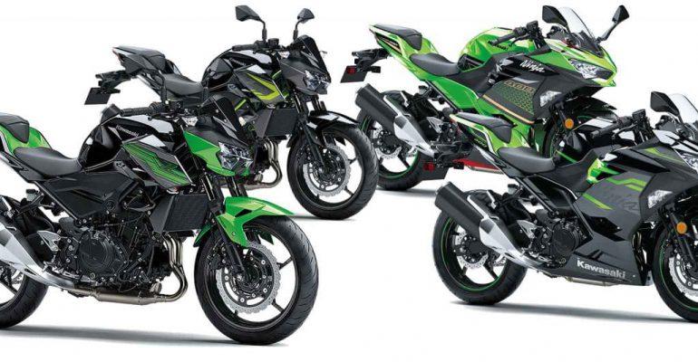 Nieuwe 2020 kleuren voor Kawasaki Ninja 400 & Z400