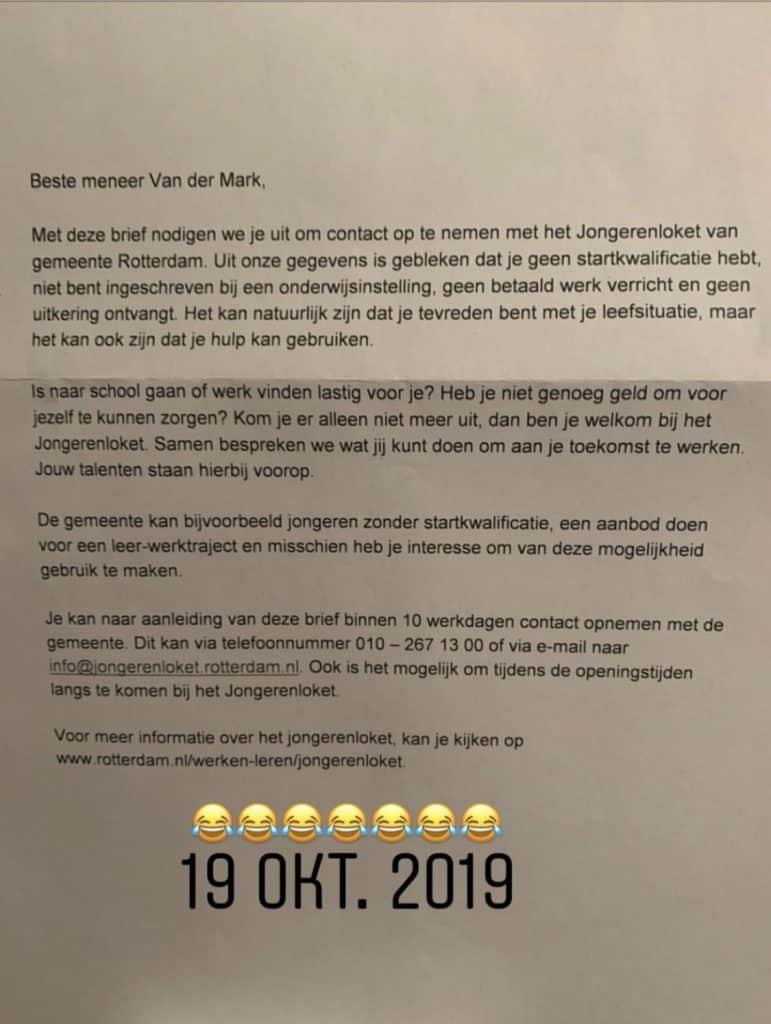 Brief Michael van der Mark