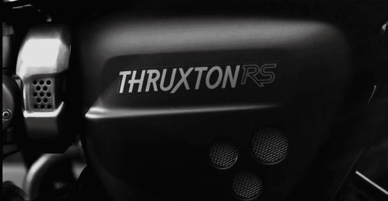 Triumph maakt lekker met Thruxton RS (met supercharger?)