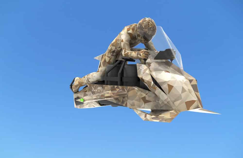 Vliegende motorfiets: Militaire Speeder