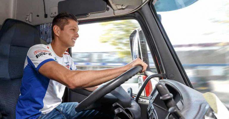 2014: Michael van der Mark, wereldkampioen én vrachtwagenchauffeur