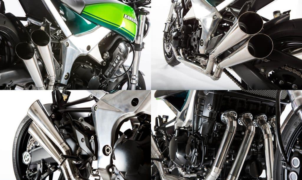 Kawasaki Z1000 40th Anniversary uitlaatdetails