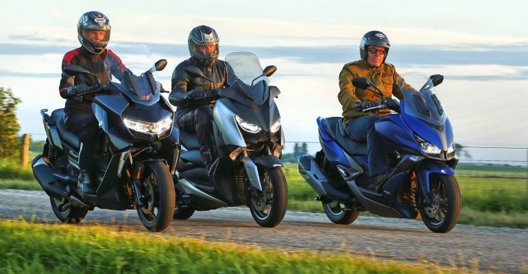 Test: BMW C400GT vs. Kymco Xciting S400i vs. Yamaha XMax 400