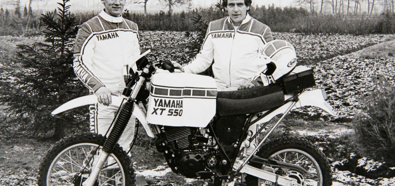 Anne Kies en Rikus Lubbers bij Yamaha XT 550