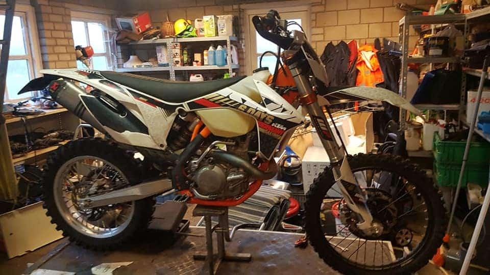 De gestolen KTM 450 EXC 'Six Days'