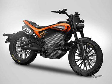 Officieel: ontwerptekening van elektrischeHarley-Davidsons flat tracker