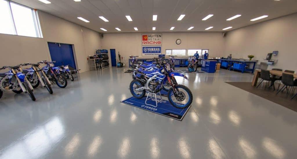 Hutten Yamaha-werkplaats