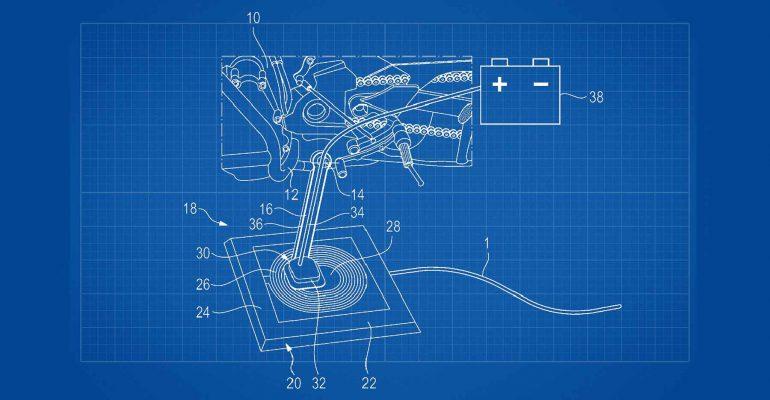 BMW patenteert opladen accu via zijstandaard