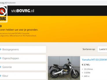 Nu ook motoren op viaBOVAG.nl