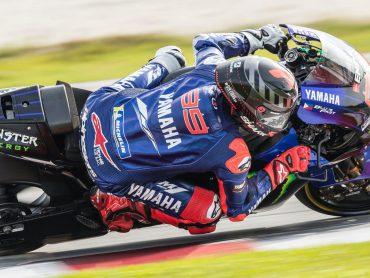 Jorge Lorenzo racet in 2020