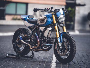 Dit is de winnende Ducati Scrambler van Marco Graziani