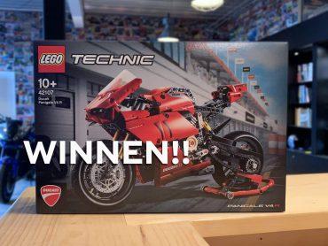 Winnen: Ducati Panigale V4 R van LEGO Technic