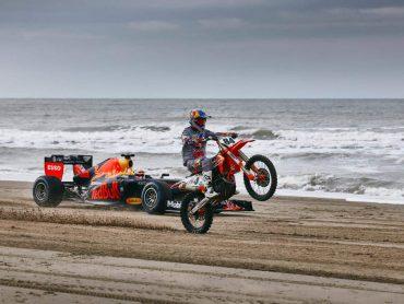 Sportfoto: Max Verstappen en Jeffrey Herlings