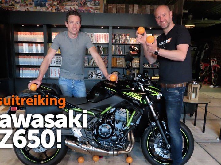 Prijsuitreiking Kawasaki Z650 bij MotorNL