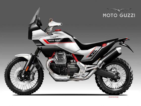 Moto Guzzi V90 TTR Concept van Oberdan Bezzi