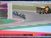 Eerste podium Valentino Rossi in virtuele MotoGP