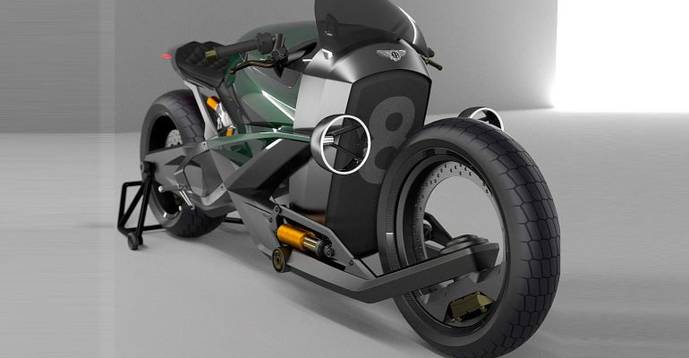 Hoe ziet een motorfiets van Bentley eruit?