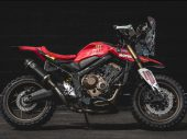 Honda CB650R Rally CUSTOM geïnspireerd op HRC Dakar racers