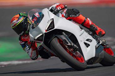 Ducati zet White Rosso in het rijtje Panigale V2's