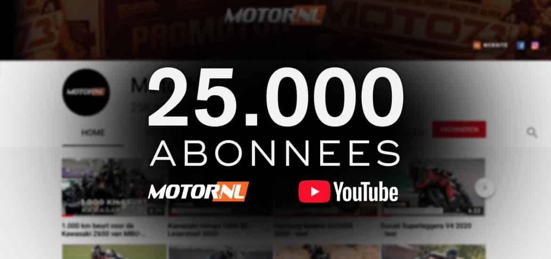 25.000 YOUTUBE MOTORNL