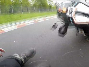 KTM Super Adventure op de Nürburgring: snel tot de onvermijdelijke schuiver