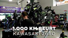 1.000 km beurt voor de Kawasaki Z650 van MBU-winnaar Michel
