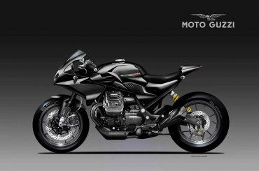 Moto Guzzi V85 Black Eagle Concept door Oberdan Bezzi